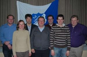 Der geschäftsführende Vorstand im Jahr 2010 (v.l.n.r.): Raphael Funke, Michaela Gierse, Gregor Mertens, Heinz-Gerd Gehling, Tobias Schmitz, Franz Mast und Ingo Duderstadt.