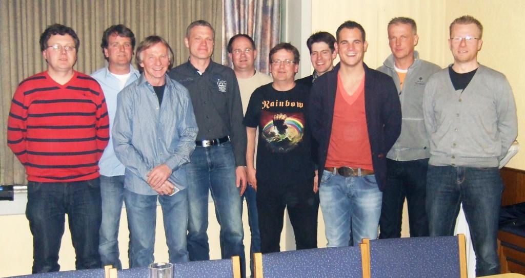(v.l.n.r.) Meinolf Göke, Marcel Andreas, Berthold Kraft, Dirk Humpert, Mario Gierse, Dominik Andreas, Franz Mast, André Schmidt, Markus Morgenroth, Dirk Mester
